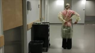 Putting on a Gown and Gloves