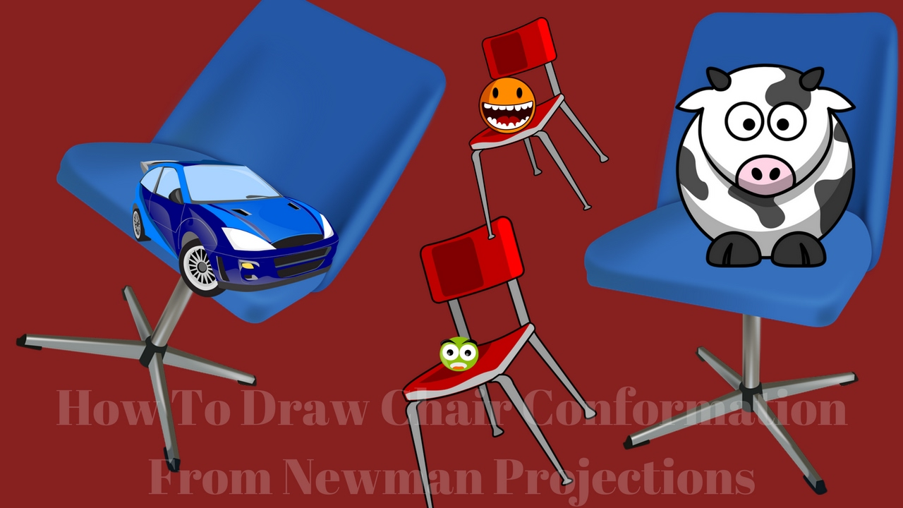 Chair drawing for kids - How To Draw Chair Conformation From Newman Projections Chair Draw For Kids Drawing For Kids