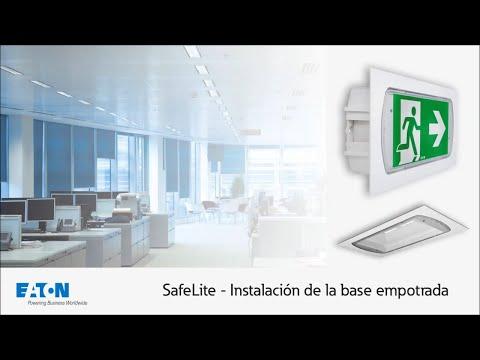 Guía de Instalación de la base SL2RB para empotrar la luminaria SafeLite.