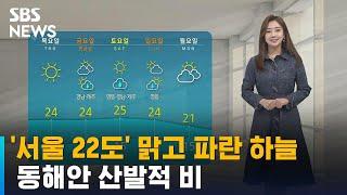 [날씨] '서울 22도' 맑고 파란 하늘…
