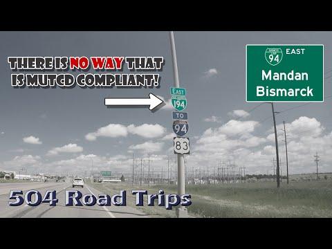 Road Trip #475 - I-94 Business Loop - Mandan / Bismarck, North Dakota