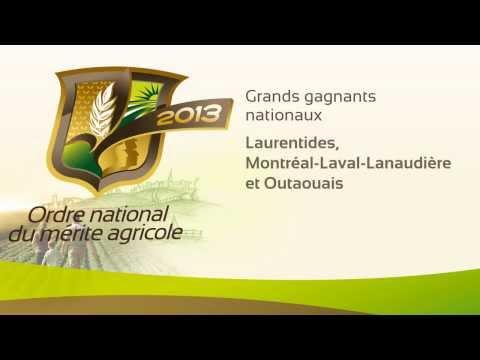 Édition 2013 - Ordre national du mérite agricole du Québec (ONMA) - Les grands gagnants