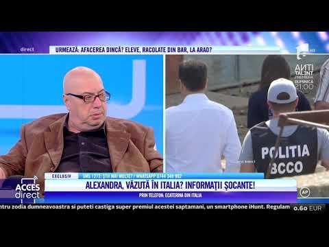 Informații noi în cazul Caracal. Alexandra Măcenașu ar fi fost văzută în Italia