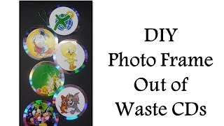 Diy - How To Make A Photo Frame Out Of Waste Cds