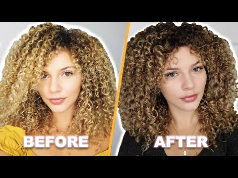 I DYED MY BLONDE CURLY HAIR DARKER AT HOME (no damage)