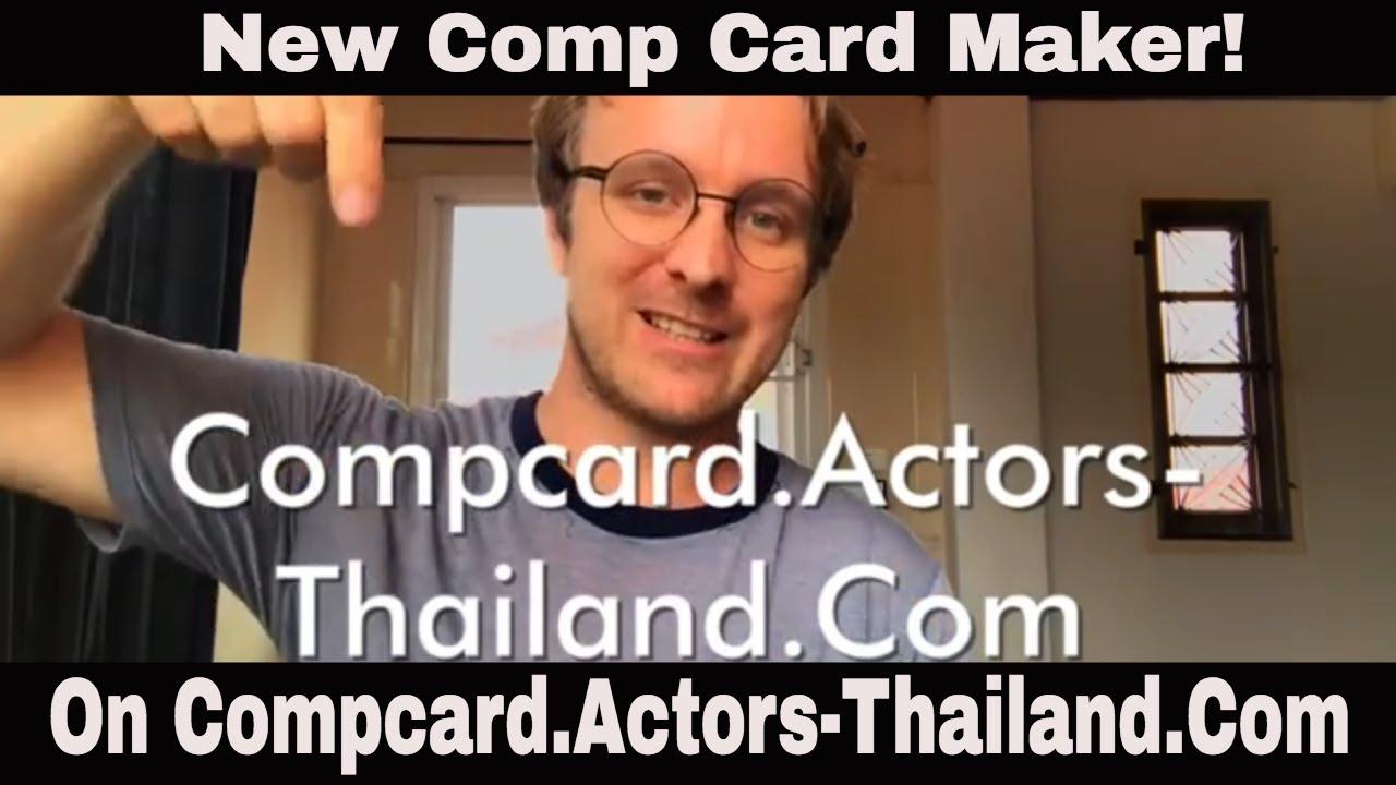 Best New Free Online Comp Card Maker On CompcardActors ThailandCom