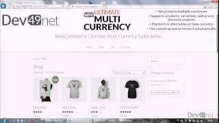 WooCommerce Ultimate Multi Currency Suite presentation