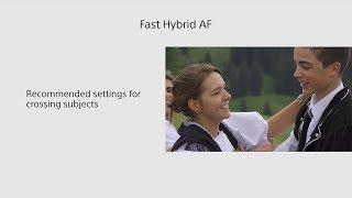 Соні | відеокамеру Handycam® | ФДР-AX700 швидкої гібридної автофокусування підручник - суб'єкти перетину - 4К і HDR(ГВР)