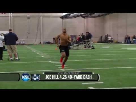 Utah State Pro Day: Joe Hill Runs 4.26 40-yard Dash