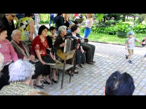 Old women playing Ossetian music on the street, Vladikavkaz, April 2013