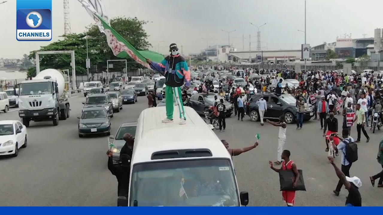 Download ENDSARS Protesters Observe One Year Anniversary In Lagos