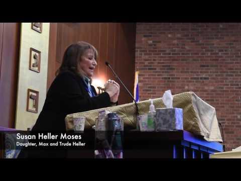 Susan Heller Moses Speaks On Her Father, Greenville Mayor Max Heller