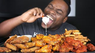 WINGSTOP MUKBANG WITH 3 FLAVORED CHICKEN WINGS | BEAST MODE
