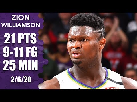 zion-williamson-puts-up-fourth-straight-20-point-game-vs.-bulls-|-2019-20-nba-highlights