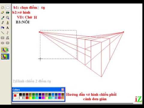 Hướng dẫn vẽ hình chiếu phối cảnh 1 điểm tụ và 2 điểm tụ