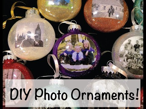 DIY: How to make Christmas Photo Ornaments