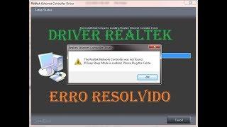 """RESOLVIDO"" ERRO NO DRIVER REALTEK"