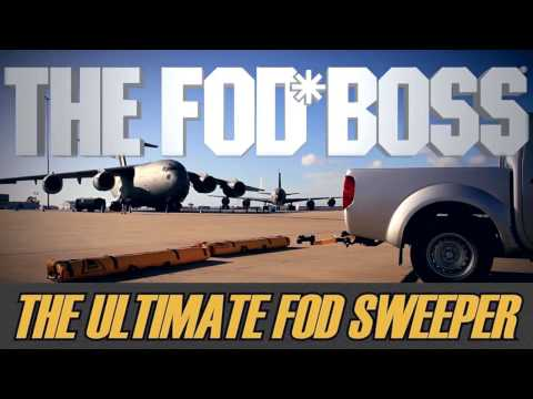THE FOD BOSS Foreign Object Debris FOD Airfield Sweeper