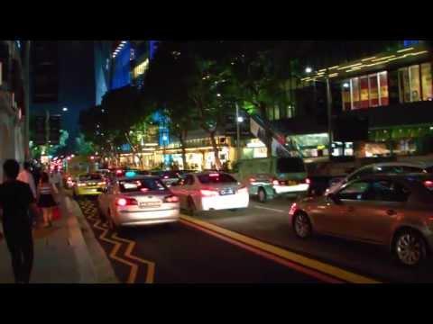 Singapore Entertainment & Shopping Area @ Orchard Road [Night Walk]