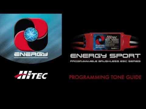 Hitec's Energy Sport ESC Series: Programming Tone Guide