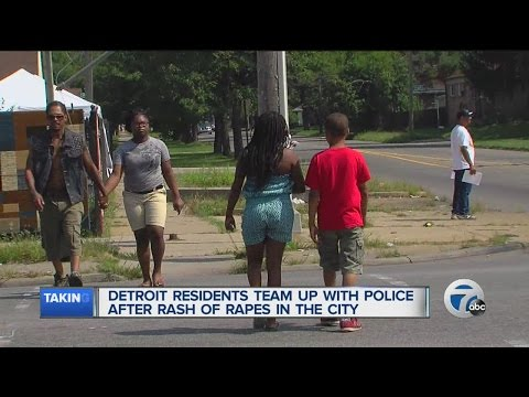 Detroit residents team up with police after rash of rapes