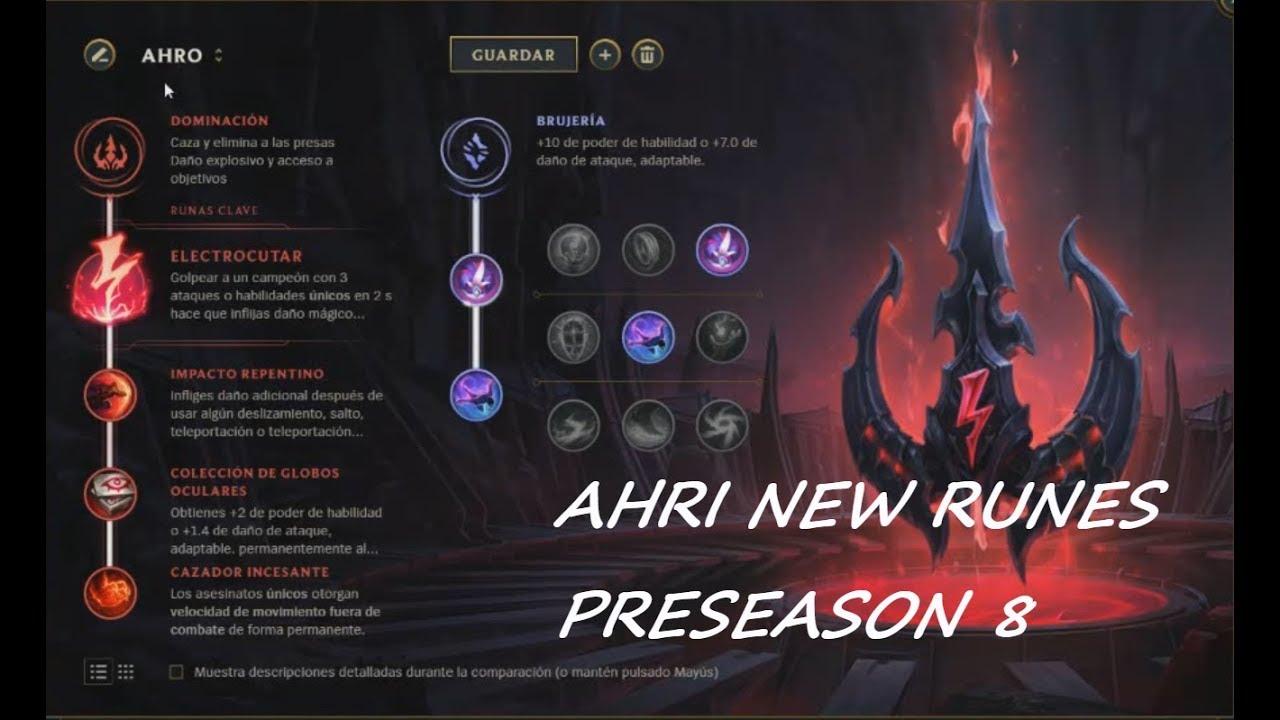PRESEASON 8 NEW RUNES Ahri Gameplay