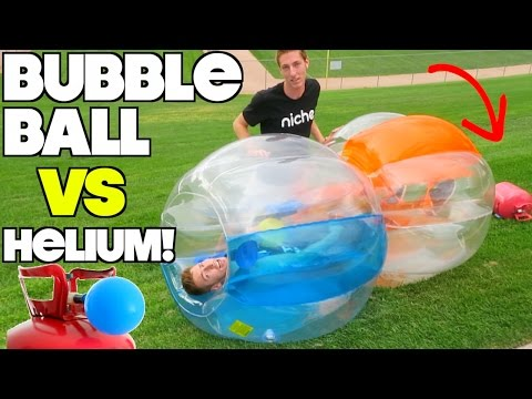 BUBBLE BALL VS HELIUM!!!