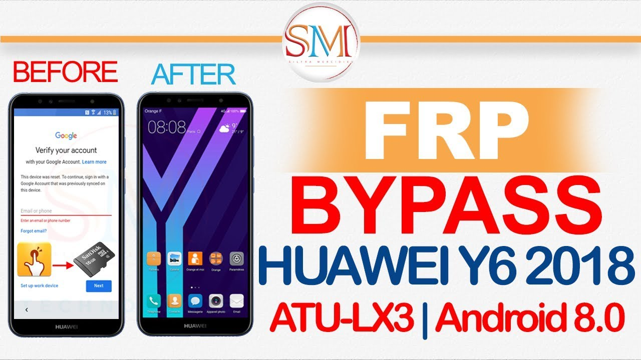 HUAWEI Y6 2018 ATU LX3 FRP BYPASS ACCOUNT GOOGLE ANDROID 8 0