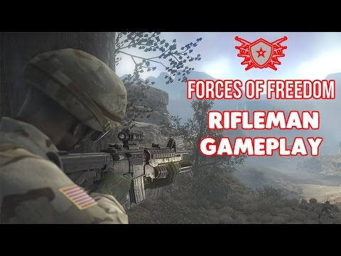 FORCES OF FREEDOM (RIFLEMAN) Gameplay - (iOS/Android)