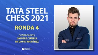 TATA STEEL CHESS 2021 (4): Van Foreest vs Carlsen | Vachier-Lagrave vs David Antón