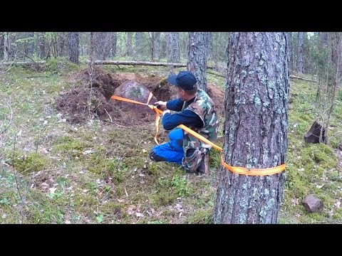 Обнаружил ТАЙНИК под камнем, такое СЧАСТЬЕ найти КЛАД в лесу