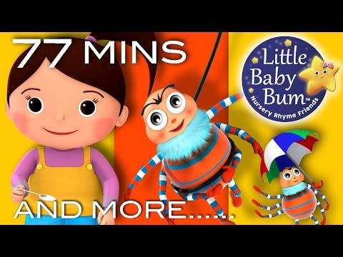 Little Miss Muffet | Plus Lots More Nursery Rhymes | 77 Minutes Compilation from LittleBabyBum!