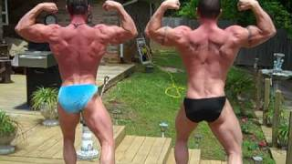 Todd Bailey & Bobby Smith Practice Posing For May 22, 2010 Optimum Bodybuilding  Show