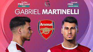 PES 2021 Gabriel Martinelli Hair and Beard Update Arsenal PES 2020