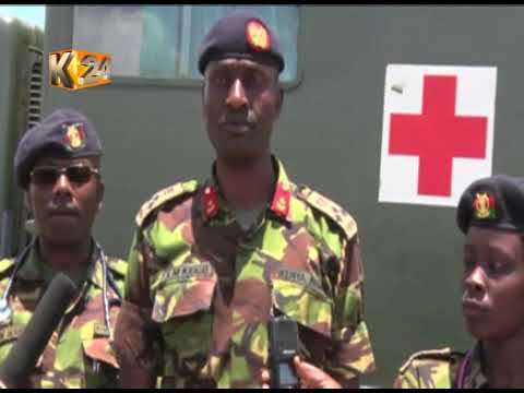KDF soldiers engage in clean-up exercise of Isiolo town ahead of KDF day