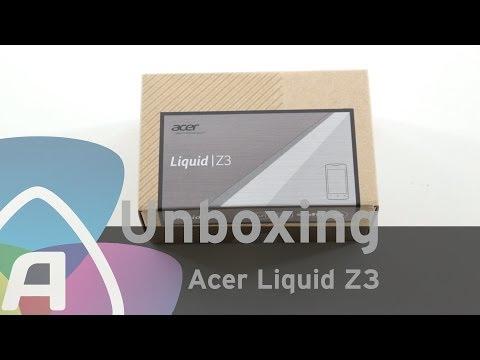 Acer Liquid Z3 unboxing (Dutch)