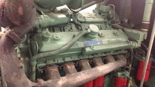 V12 Detroit diesel 12v92 twin turbo cold start