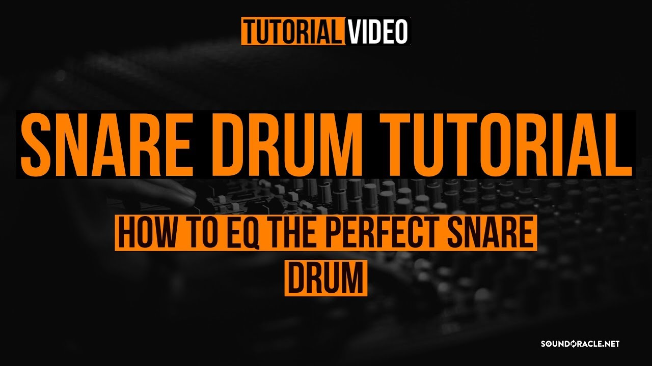 snare drum tutorial how to eq the perfect snare drum youtube. Black Bedroom Furniture Sets. Home Design Ideas