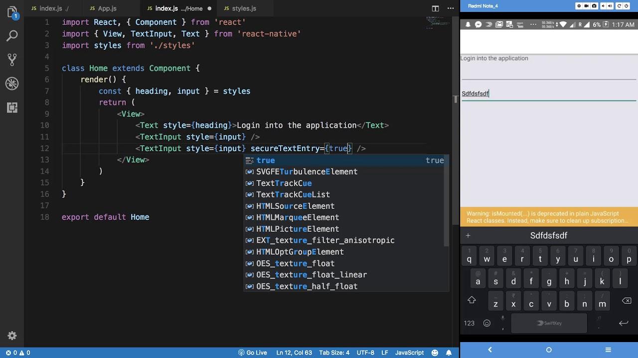 React Native Tutorial 23: Login Application - Part 2