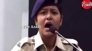 Kanhaiya kumar reply to CRPF Khushbu Chauhan/ कन्हैया कुमार का CRPF कांस्टेबल खुशबू चौहान को जवाब