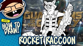 How to Draw ROCKET RACCOON (Guardians of the Galaxy) | Narrated Easy Step-by-Step Tutorial