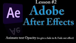 Dark Effects Lessons for After Effects Series I
