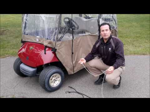 Adding Bungee Cords to EZ Mag's Yamaha Drive Golf Cart Cover