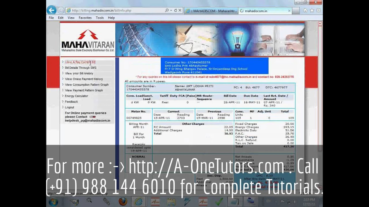 Learn Online MSEB Bill Payment   2   YouTube