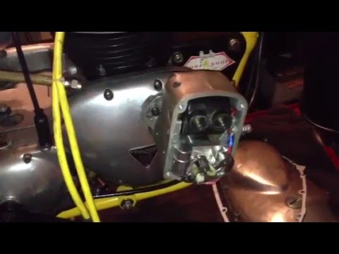 Triumph t100 500 cafe racer timing a joe hunt magneto youtube sciox Gallery