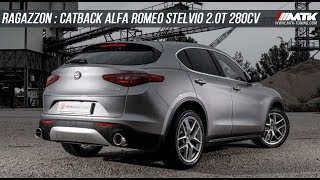 Catback Echappement Ragazzon Alfa Romeo Stelvio 2.0T 280cv