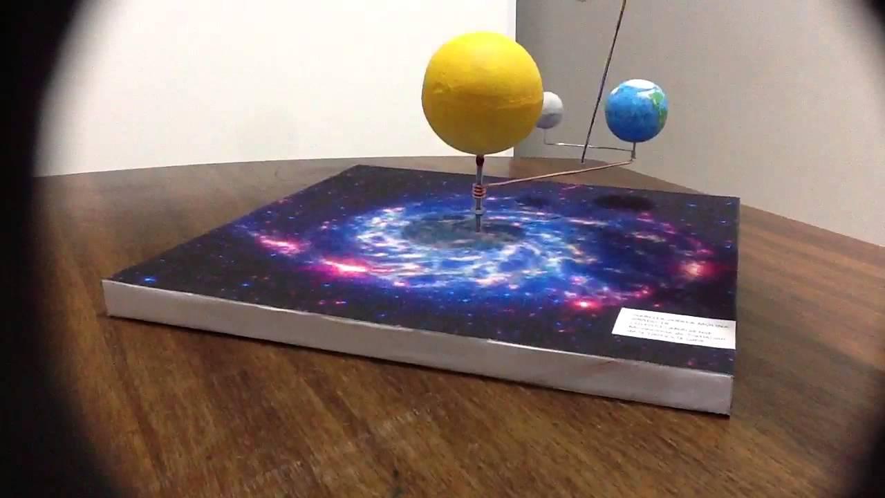 Maqueta sistema Sol Tierra Luna  YouTube