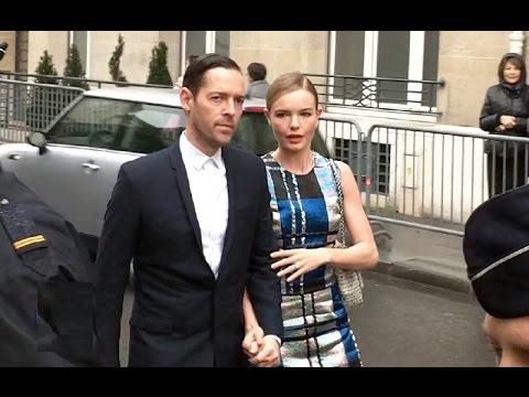 Kate BOSWORTH & Michael POLISH @ Paris Fashion Week 20 january 2014 show Dior / janvier