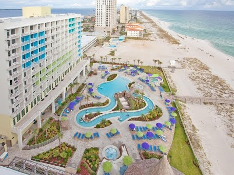 Pensacola Beach Holiday Inn resort room tour