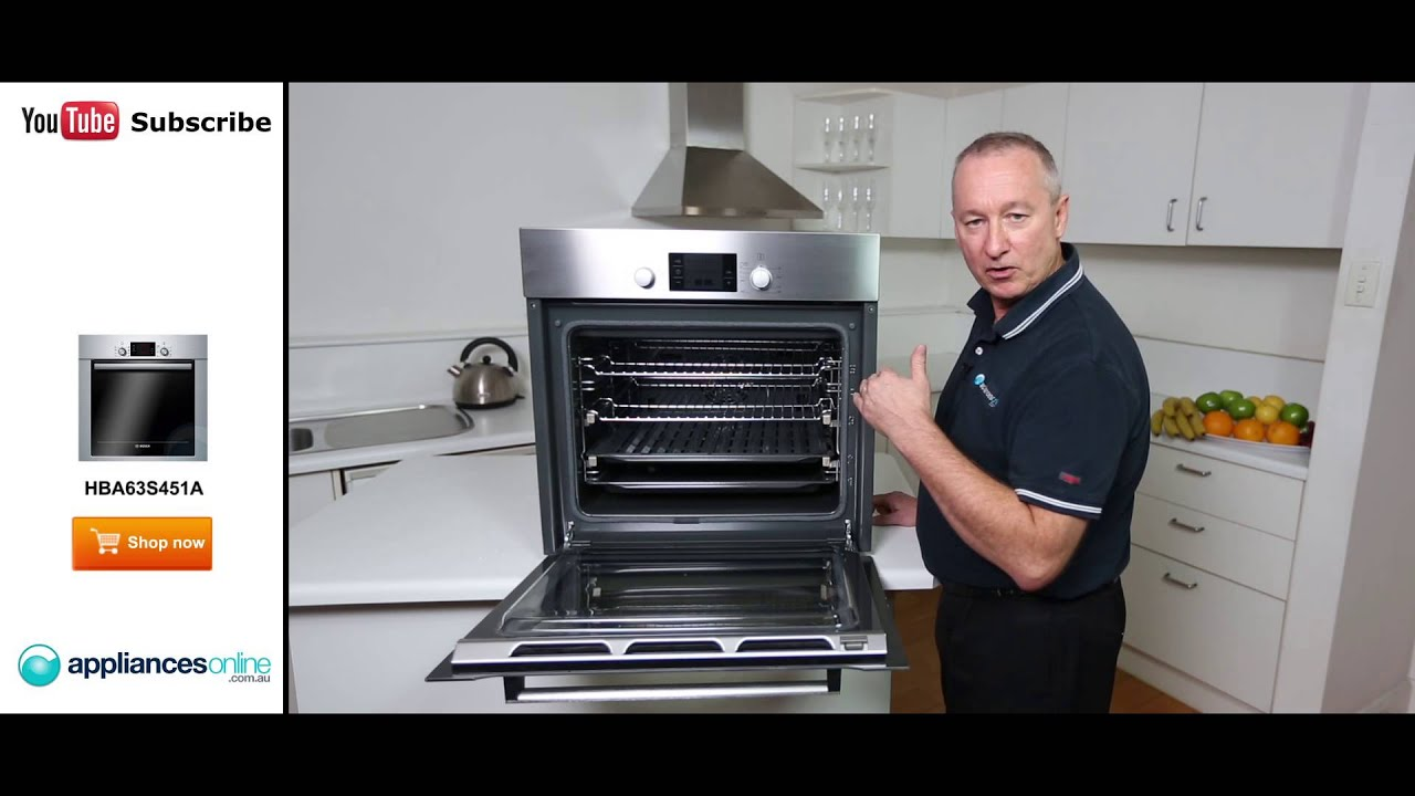 hba63s451a bosch 60cm electric wall oven with pyrolytic cleaning reviewed appliances online